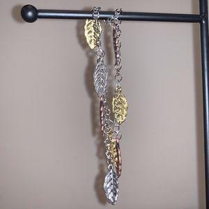 Silver Leaf Chain Bracelet